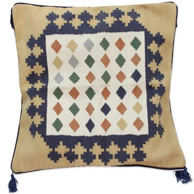 Sonik Seth Woven Cotton Floor Throw Pillow