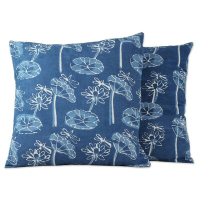 Anil Khandelwa Floral Indian Cotton Throw Pillow Cover