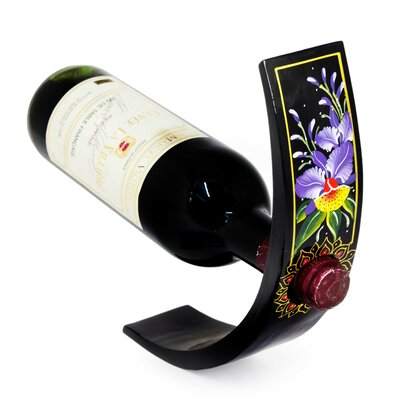 Subin Tositara Floral 1 Bottle Tabletop Wine Rack