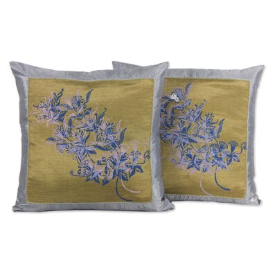 Thanyarat Sananpanich Floral Throw Pillow Cover