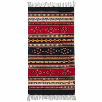 Zapotec Hand-Loomed Red Area Rug