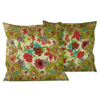 Seema Floral Throw Pillow Cover