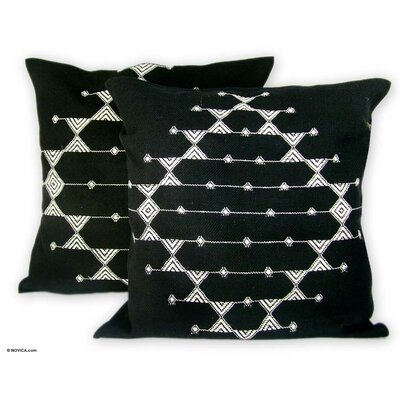 Cotton Patterned Throw Pillow Cover