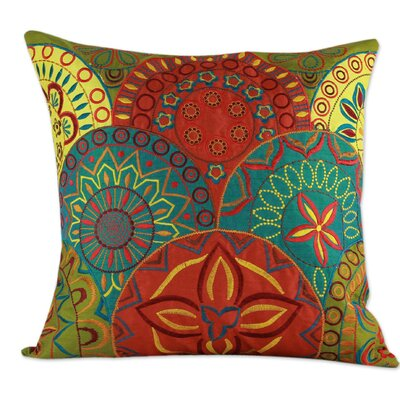 Seema Embroidered Applique Throw Pillow Cover