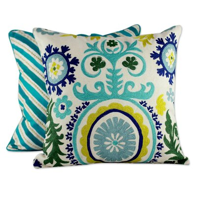 Seema 2 Piece Embroidered Throw Pillow Cover