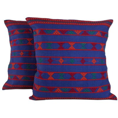 Hand Crafted Patterned Cotton Throw Pillow Cover
