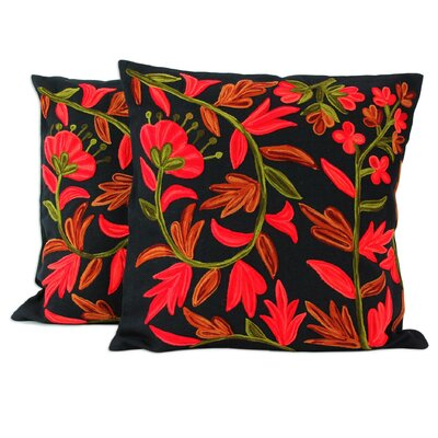 Amit Moza Floral Cotton Cushion Cover