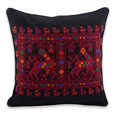 Maya Cotton Throw Pillow Cover