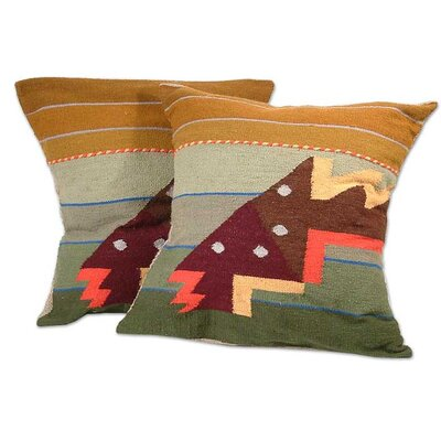 Faustino Maldonado Geometric Throw Pillow Cover