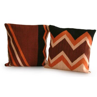Cerapio Vallejo Handmade Peruvian Geometric Throw Pillow Cover
