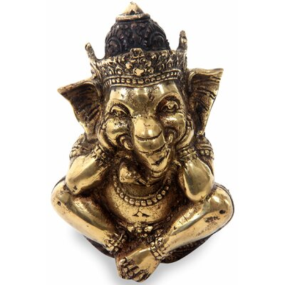 Elayanti Hindu Crafted Art Ganesha Statuette 251286
