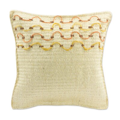 Yucatan Sunshine Hand Crafted Henequen Throw Pillow