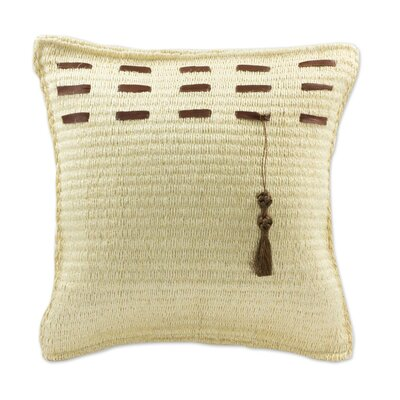 Yucatan Code Handcrafted Henequen Throw Pillow