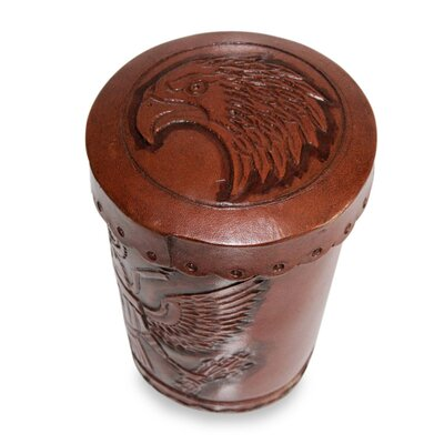 Abel Rios 6 Piece American Patriot Leather Dice Cup and Dice Set 209701