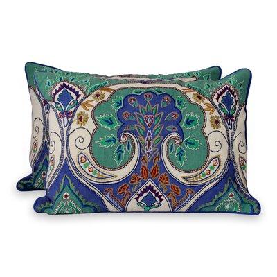Seema Embroidered Lumbar Pillow Cover