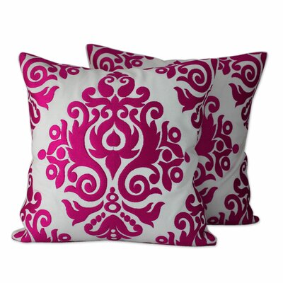 Asha Prabha Embroidered Cotton Throw Pillow Cover