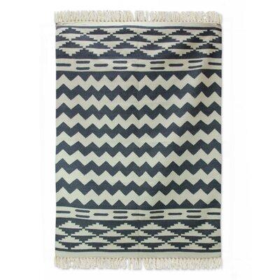 Sonik Sethi Hand-Woven Gray Area Rug