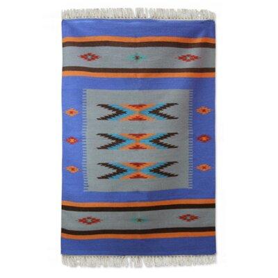 Sonik Sethi Hand-Woven Blue Area Rug