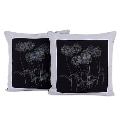 Agapanthus Floral Cotton Pillow Cover