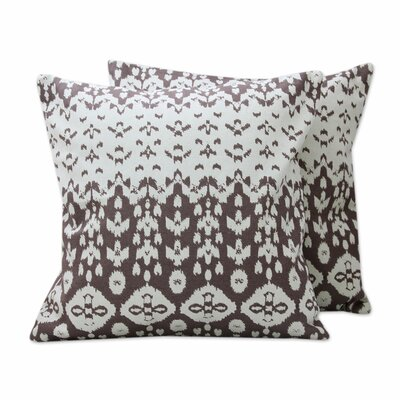 Abstract Leaves Print Cotton Pillow Cover