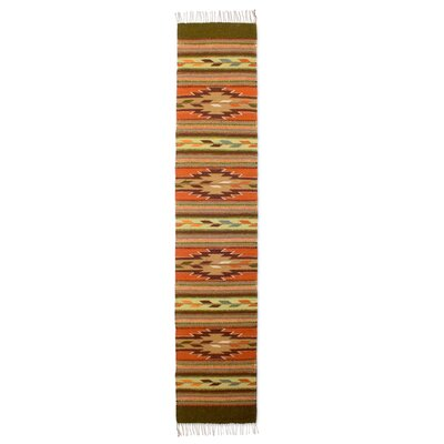 Hand Woven Brown/Orange Area Rug