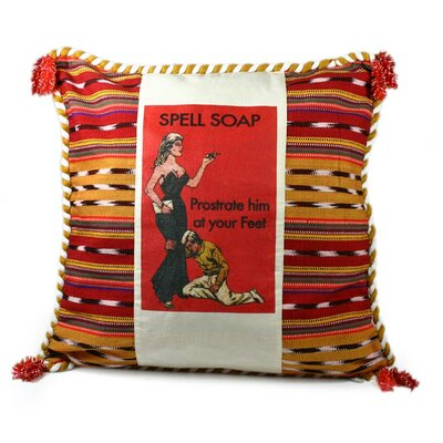 At Her Feet Cotton Pillow Cover