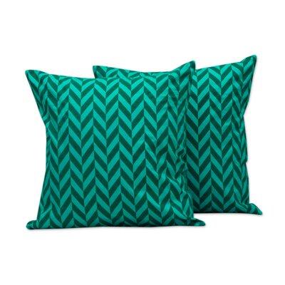 Chevrons Block Print Pillow Cover