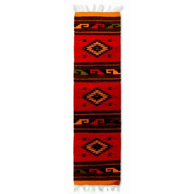 Mcfarlin Earth Tone Dancing Diamonds? Expertly Hand Woven Mexican Wool Home Decor Area Rug