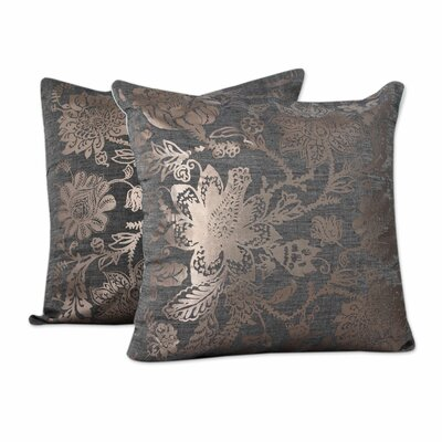 Sea Blossoms Cotton Pillow Cover