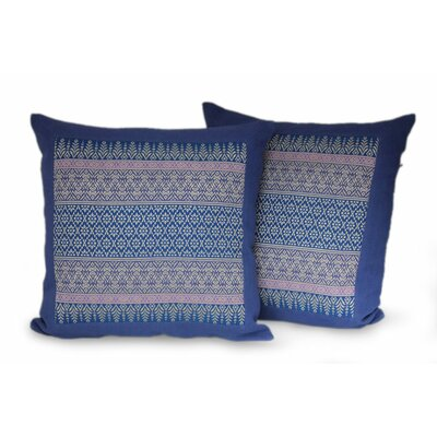 Thai Iris Cotton Pillow Cover