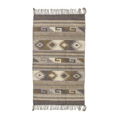 Zapotec Hand Woven Beige/Gray Area Rug