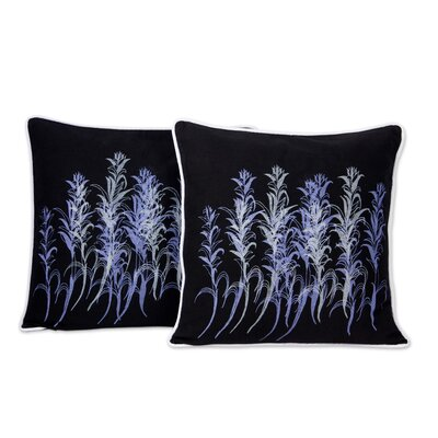 The Galangal Flowers Artisan Crafted Cotton Pillow Cover
