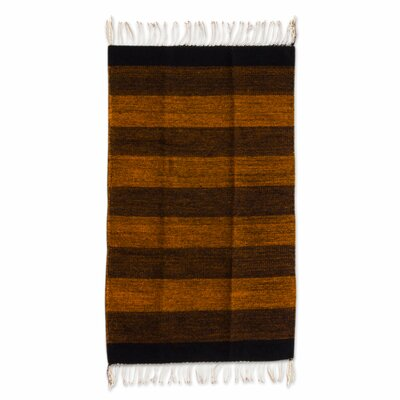 Zapotec Brown Hand Woven Area Rug