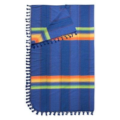 Zapotec Dreamer Hand Woven Cotton King Bedspread