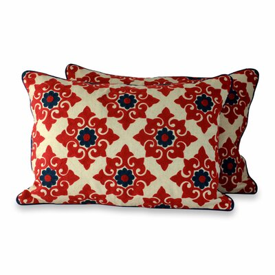 Romantic Embroidered Pillow Cover