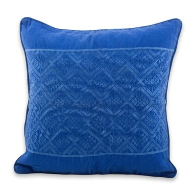 Sky Diamond Texture Maya Handwoven Cotton Pillow Cover