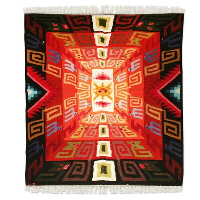 Hand Woven Red/Black Area Rug