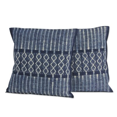 Enchanted Hills Hand Dyed Batik Cotton Pillow Cover