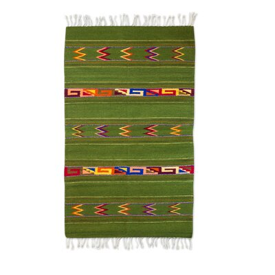 Zapotec Green Area Rug