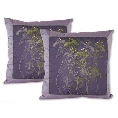 Herbs Hand Crafted Floral Pillow Cover