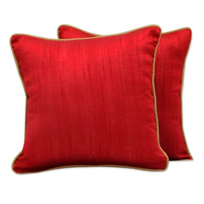 Elegant Pillow Cover Color: Red