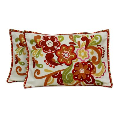 Flower Festival Applique Pillow Cover