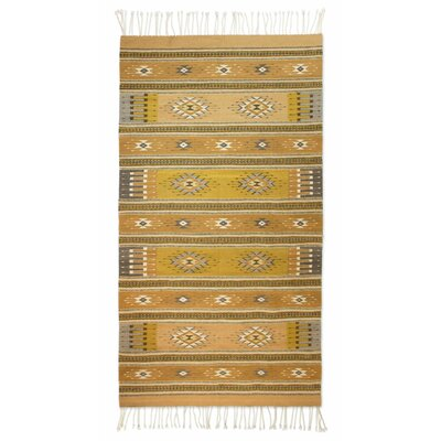 Zapotec Hand Woven Yellow Area Rug