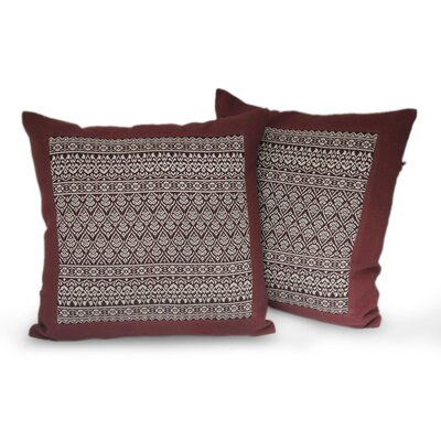 Lotus Cotton Pillow Cover