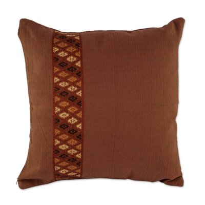 Tecpan Diamonds Maya Backstrap Loom Handwoven Cotton Pillow Cover