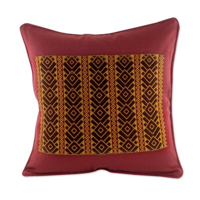 Solola Roads Maya Backstrap Woven Cotton Pillow Cover