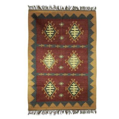 Hand Woven Brown/Beige Area Rug