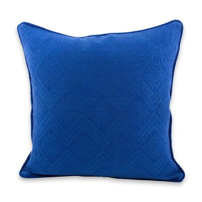 Sky Nuances Diamond Texture Maya Backstrap Handwoven Pillow Cover