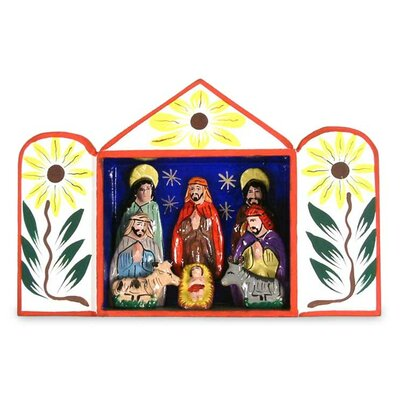 Caring for Baby Jesus Hand Crafted Christmas Nativity Scene Sculpture 95858