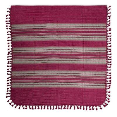 Rosa Mexicana Zapotec Cotton Twin Bedspread